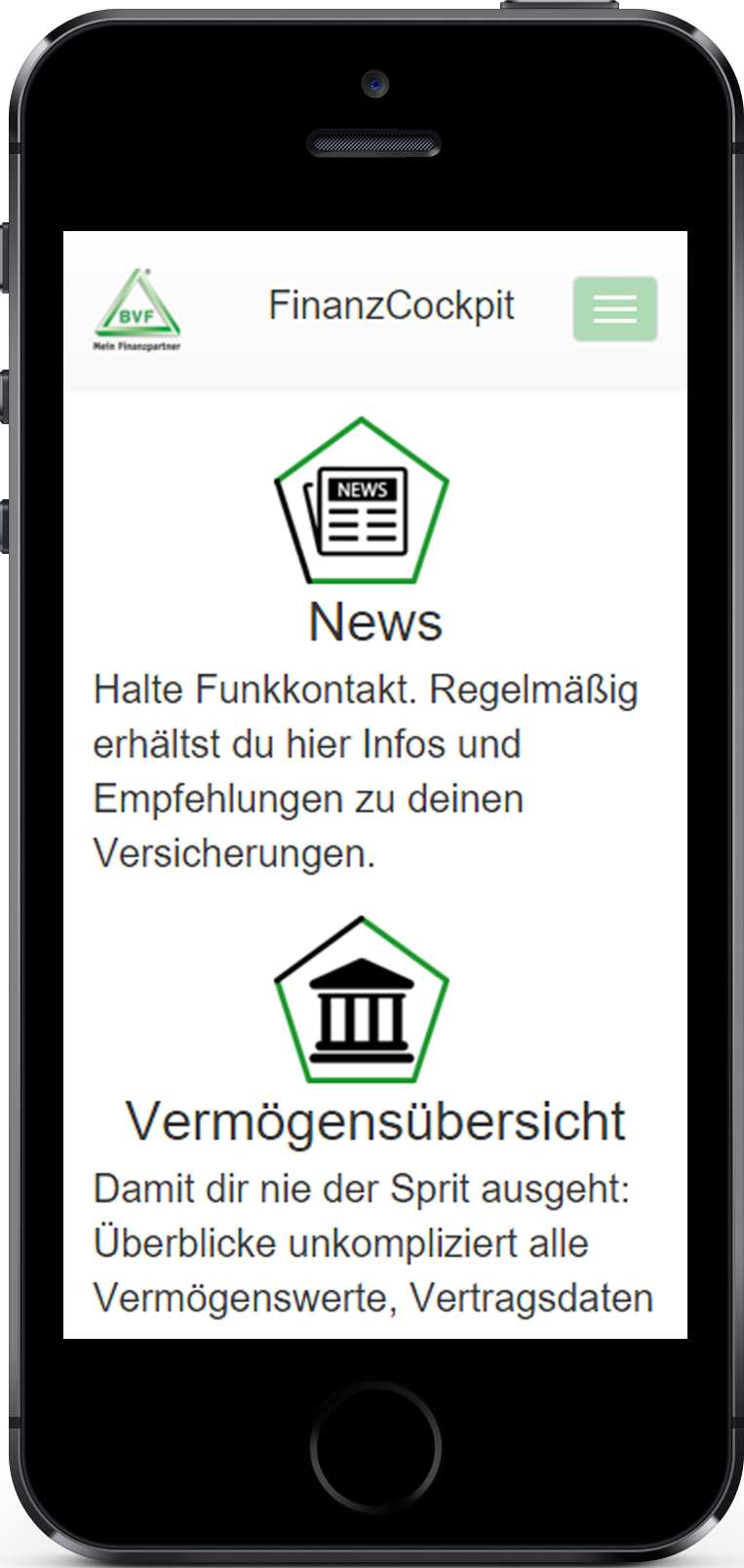 Screenshot Finanzcockpit